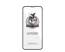 Folie Premium Shark Proda Full Cover iPhone 12 / 12 Pro, Transparenta Cu Rama Neagra