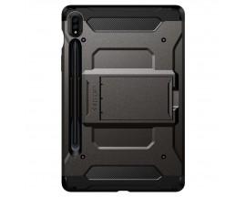 Husa Originala Spigen Tough Armor Tech Compatibila Cu Samsung Galaxy S7 11inch, Model T870 / T875. Gunmetal