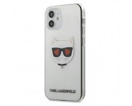 Husa Premium Karl Lagerfeld iPhone 12 Mini, Transparent Choupette - KLHCP12SCLTR