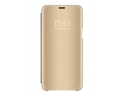 Husa Tip Carte Mirror Samsung Galaxy A20s, Gold