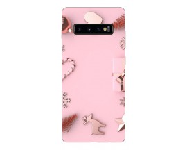 Husa Silicon Soft Upzz Print X-mass Samsung S10+ Plus Model Craciun 7