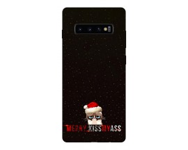 Husa Silicon Soft Upzz Print X-mass Samsung S10 Model Craciun 2