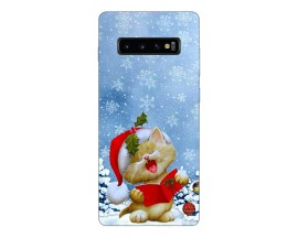 Husa Silicon Soft Upzz Print X-mass Samsung S10 Model Craciun 3