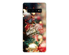 Husa Silicon Soft Upzz Print X-mass Samsung S10 Model Craciun 4