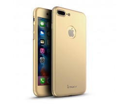 Husa Ipaky 360 Grade Ultra Slim iPhone 7 Plus Gold Folie Sticla Inclusa