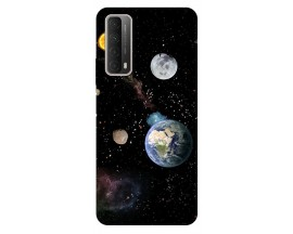 Husa Silicon Soft Upzz Print Huawei P Smart 2021 Model Earth