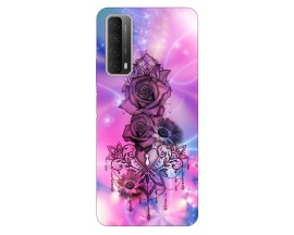 Husa Silicon Soft Upzz Print Huawei P Smart 2021 Model Neon Rose