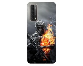 Husa Silicon Soft Upzz Print Huawei P Smart 2021 Model Soldier