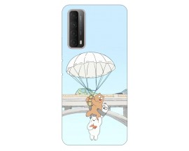 Husa Silicon Soft Upzz Print Huawei P Smart 2021 Model Three Bears