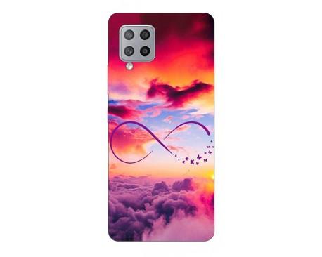 Husa Silicon Soft Upzz Print Samsung Galaxy A42 5G Model Infinity