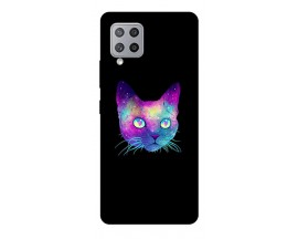 Husa Silicon Soft Upzz Print Samsung Galaxy A42 5g Model Neon Cat