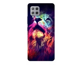 Husa Silicon Soft Upzz Print Samsung Galaxy A42 5g Model Neon Lion