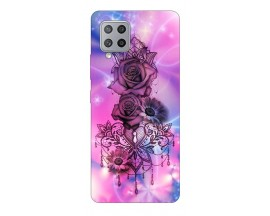 Husa Silicon Soft Upzz Print Samsung Galaxy A42 5g Model Neon Rose