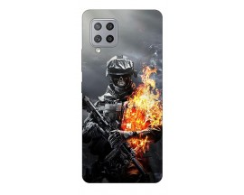 Husa Silicon Soft Upzz Print Samsung Galaxy A42 5g Model Soldier