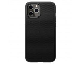 Husa Premium Originala Spigen Liquid Air iPhone 12 Pro Max Negru Silicon