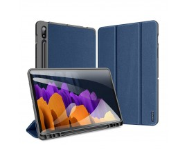 Husa Tableta Duxducis Domo Smartcase Samsung Galaxy Tab S7+ Plus 12.4inch, T970 / T 976 ,albastru