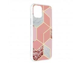 Husa Upzz Silicone Marble Cosmo Compatibila Cu iPhone 12 Mini, Model 2