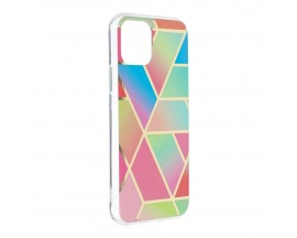 Husa Upzz Silicone Marble Cosmo Compatibila Cu iPhone 12 Mini, Model 4