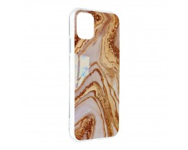 Husa Upzz Silicone Marble Cosmo Compatibila Cu iPhone 12 Mini, Model 9