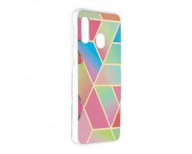 Husa Upzz Silicone Marble Cosmo Compatibila Cu Samsung Galaxy A20e, Model 4