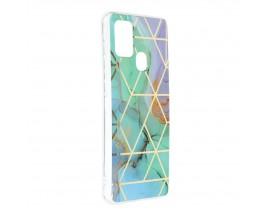 Husa Upzz Silicone Marble Cosmo Compatibila Cu Samsung Galaxy A21s, Model 3