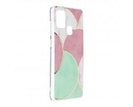 Husa Upzz Silicone Marble Cosmo Compatibila Cu Samsung Galaxy A21s, Model 5