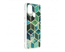 Husa Upzz Silicone Marble Cosmo Compatibila Cu Samsung Galaxy A21s, Model 8