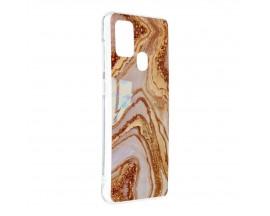 Husa Upzz Silicone Marble Cosmo Compatibila Cu Samsung Galaxy A21s, Model 9
