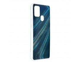 Husa Upzz Silicone Marble Cosmo Compatibila Cu Samsung Galaxy A21s, Model 10