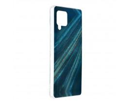 Husa Upzz Silicone Marble Cosmo Compatibila Cu Samsung Galaxy A42 5G, Model 10