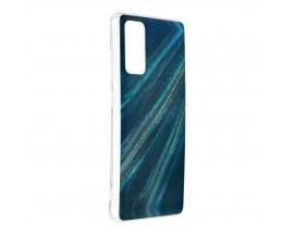 Husa Upzz Silicone Marble Cosmo Compatibila Cu Samsung Galaxy S20 FE, Model 10