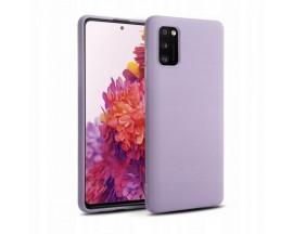 Husa Premium Upzz Liquid Silicon Pentru Samsung Galaxy S20 Fe , Cu Invelis Alcantara La Interior , Violet