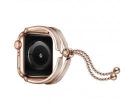 Curea Apple Watch, Tech Protect Chainband, Compatibila Cu Apple Watch 2/3/4/5/6/SE (42/44mm), Gold