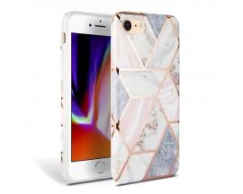 Husa Spate Premium Upzz Tech iPhone Se 2 ( 2020 ) Marble Roz