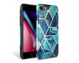 Husa Spate Premium Upzz Tech iPhone Se 2 ( 2020 ) Marble Albastru