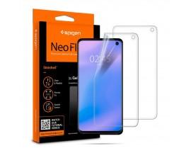 Folie Silicon Premium Neo Flex Spigen Samsung S10, Transparenta Case Friendly 2 Bucati In Pachet