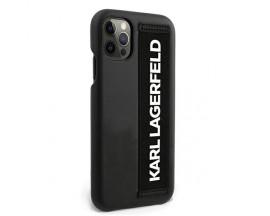 Husa Originala Karl Lagerfeld iPhone 12 Pro Max Model Hand Strap -KLHCP12LSTKLBK