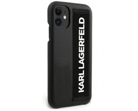 Husa Originala Karl Lagerfeld iPhone 12 Mini Model Hand Strap -KLHCP12SSTKLBK