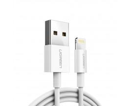 Cablu Date Premium Ugreen Lightning Mfi 20cm 2.4A, Alb