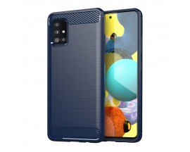 Husa Spate Upzz Carbon Pro Samsung Galaxy M31s, Albastru