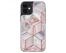 Husa Premium Spigen Cyrill Cecile Pentru iPhone 12 Mini, Marble Roz