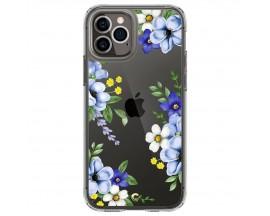 Husa Premium Spigen Cyrill Cecile Pentru iPhone 12 Pro Max, Midnight Bloom