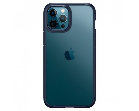 Husa Premium Spigen Ultra Hybrid iPhone 12 / 12 Pro, Navy Blue