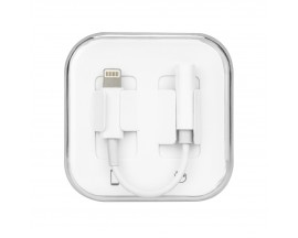 Adaptor Upzz De La Lightning La Jack 3.5mm Alb - Box