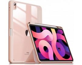 Husa Premium Infiland Crystal Compatibila Cu Apple Ipad Air 4 ( 2020 ), Roz