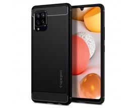 Husa Premium Spigen Rugged Armor Samsung Galaxy A42 5G, Negru