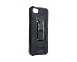 Husa Premium Upzz Defender Antishock Compatibila Cu iPhone 7 / 8 / SE 2 ,negru -stand Magnetic Pe Spate