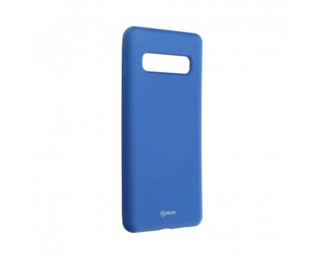Husa Spate Roar Colorful Jelly Samsung Galaxy S10 Plus Silicon Albastru