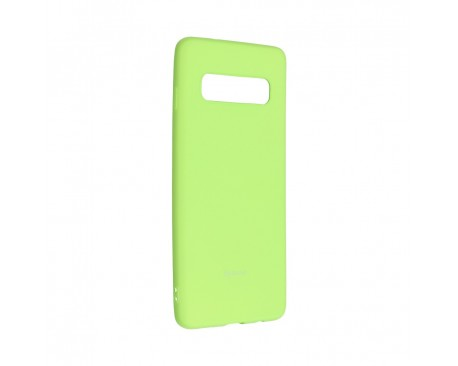 Husa Spate Roar Colorful Jelly Samsung Galaxy S10 Plus Silicon Verde Lime