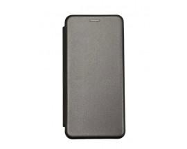 Husa Flip Carte Cu Magnet Lux Upzz Compatibila Cu Huawei P Smart 2021, Gri